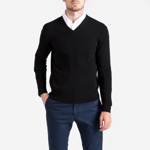 The Cashmere V-Neck Sweater by Everlane in Ted