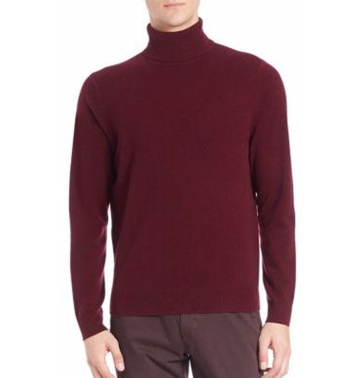 Turtleneck Cashmere Sweater by Saks Fifth Avenue Collection in The Boss