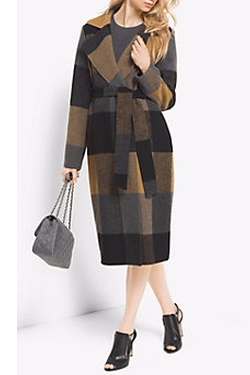 Plaid Wool Blend Wrap Coat by Michael Kors in How To Get Away With Murder