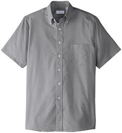 Men's Short Sleeve Oxford Dress Shirt by Van Heusen in Neighbors