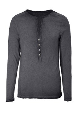 Classic Cotton Henley Shirt by True Religion in Begin Again