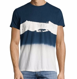 Spray Wave Dip-Dye T-Shirt by Sol Angeles in New Girl