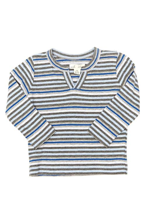 Alphie Stripe Henley T-Shirt by Peek in Let's Be Cops