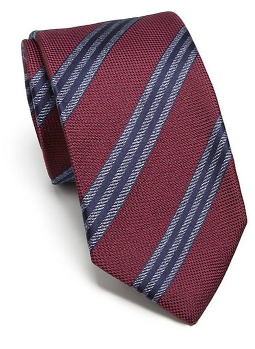 Mixed Print Silk Tie by Isaia in The Good Wife - Season 7 Episode 2