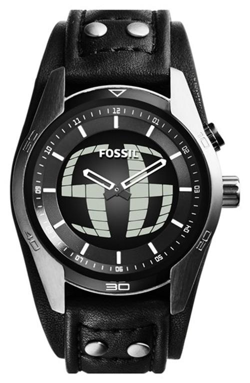 Coachman Round Leather Strap Watch by Fossil in Savages