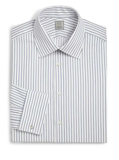 Crosby Striped Button Front Shirt by Ike Behar in The Place Beyond The Pines