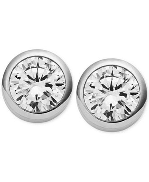 Crystal Bezel Stud Earrings by Michael Kors in The Big Bang Theory - Season 9 Episode 1