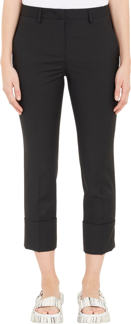 Deep-Cuff Cropped Trousers by Jil Sander in Begin Again