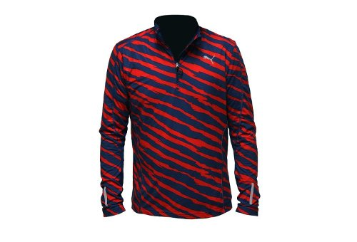 Graphic 1/2 Zip Shirt by Puma in Entourage
