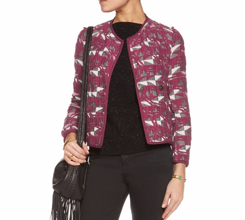 Reversible Jacquard Jacket by Maje in Pretty Little Liars - Season 7 Episode 9