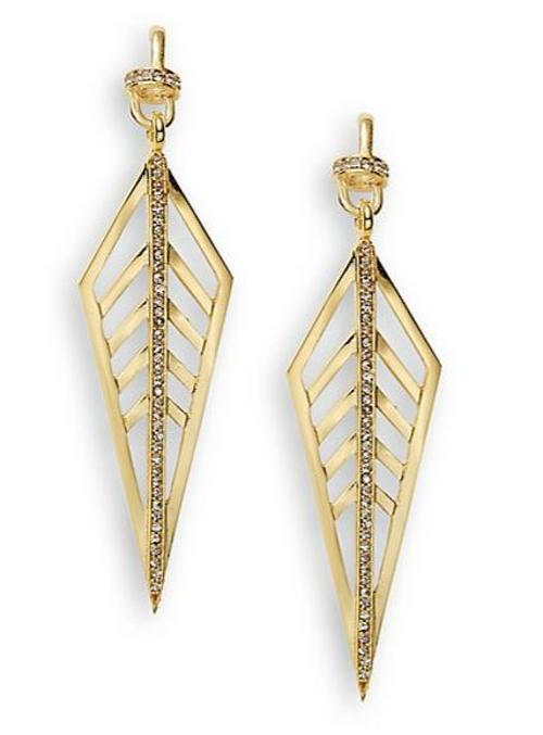 Veronica Long Trapeze Drop Earrings by Paige Novick in Trainwreck