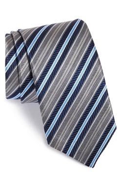 Stripe Silk Tie by J.Z. Richards in Billions