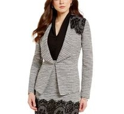(Altered) Patti Shawl Collar Lined Tweed & Lace Jacket by Antonio Melani in Pitch Perfect 3
