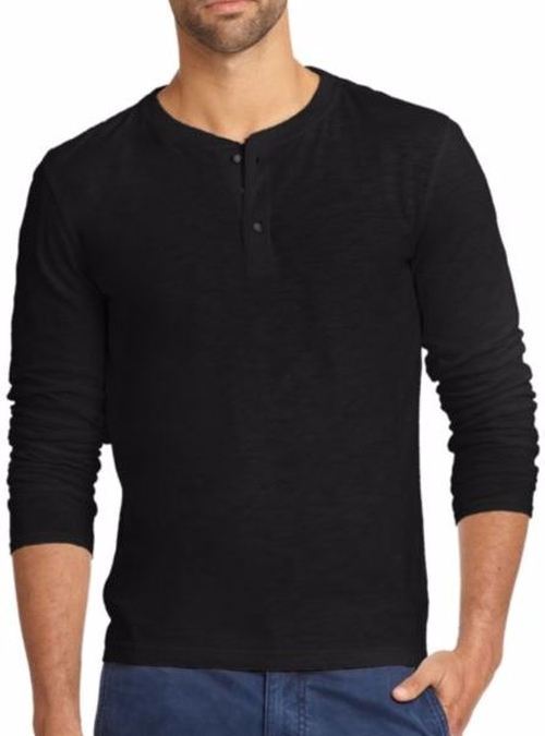 Slub Henley Shirt by Madison Supply in La La Land