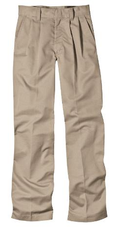 Big Boys' Pleated Front Pant by Dickies in Unbroken