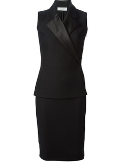 Tux Lapel Fitted Dress by Victoria Beckham in Suits