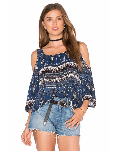 Cold Shoulder Peasant Top by Bishop + Young in Mistresses - Season 4 Episode 6