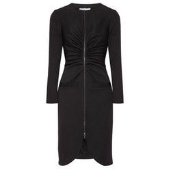 Gathered Stretch Wool Crepe Dress by Oscar de la Renta in Suits