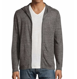 Melange Zip-Front Linen Hoodie by John Varvatos Star USA in Quantico
