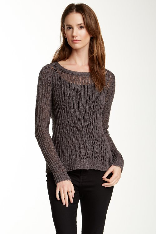Crew Neck Ribbed Sweater by Inhabit in While We're Young