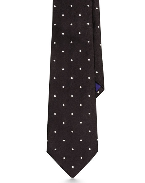 Polka-Dot Silk Satin Tie by Ralph Lauren in London Has Fallen