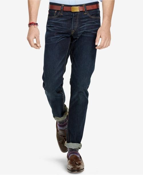 Men's Sullivan Slim-Fit Hamilton-Wash Stretch Jeans by Polo Ralph Lauren in Joshy