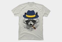 Smoking Raccoon T-Shirt by Designed By Humans in Mission: Impossible - Rogue Nation