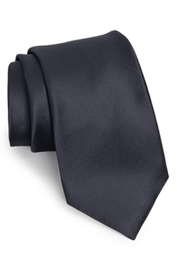 Solid Satin Silk Tie by Nordstrom in Secret in Their Eyes
