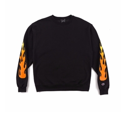 Flame Crewneck Sweatshirt by The Kylie Shop x Champion in Keeping Up With The Kardashians
