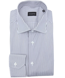 Stripe Cotton Spread Collar Dress Shirt by Ermenegildo Zegna in Suits