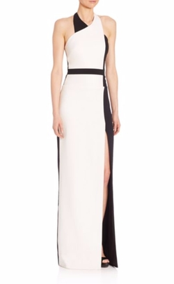 Colorblock Halter Gown by Badgley Mischka  in The Man from U.N.C.L.E.