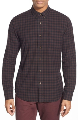 Lucas Slim Fit Check Sport Shirt by Slate & Stone in Vinyl
