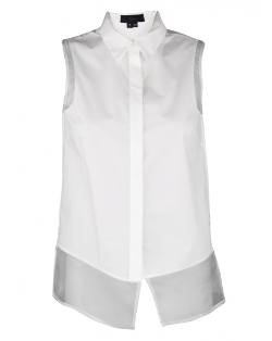 Sleeveless Pima Cotton Shirt by Nonoo in The Longest Ride