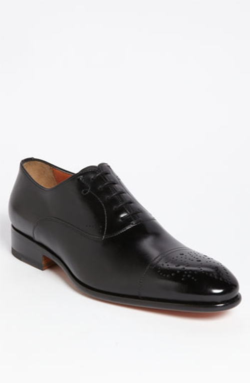'Stafford' Cap Toe Oxford Shoes by Santoni in Self/Less