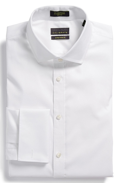 Trim Fit Stretch French Cuff Dress Shirt by Calibrate in The Longest Ride