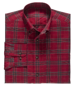 Traveler Buttondown Tartan  Sportshirt by Jos A. Bank in Max