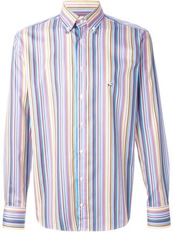 Striped Button Down Shirt by Etro in Nashville