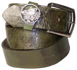 Wild Boar Leather Belt by Fronhofer in Ashby