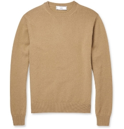 Knitted- Wool Crew Neck Sweater by Ami in The Visit