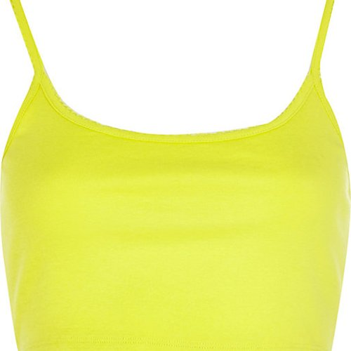 Lime Cami Crop Top by River Island in Neighbors