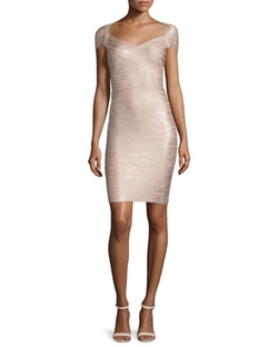 Cap-Sleeve Bandage Dress by Herve Leger in Keeping Up with the Joneses