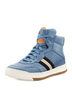 Leather Web-Detail High-Top Sneaker by Bally in Fast Five