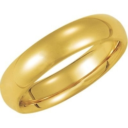 Comfort Fit Wedding Band by Jewelplus in Ballers