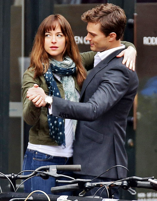 Custom Made Peaked Lapel Blazer by Mark Bridges (Costume Designer) in Fifty Shades of Grey