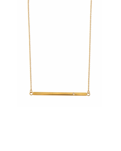Bar-Pendant Necklace by Jennifer Zeuner in Suits