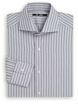 Striped Cotton Dress Shirt by Abla in Side Effects