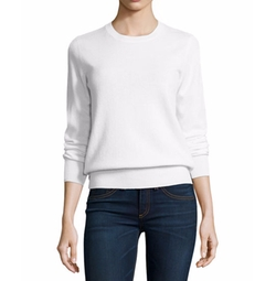 Long-Sleeve Crewneck Cashmere Sweater by Neiman Marcus Cashmere Collection in Jane the Virgin
