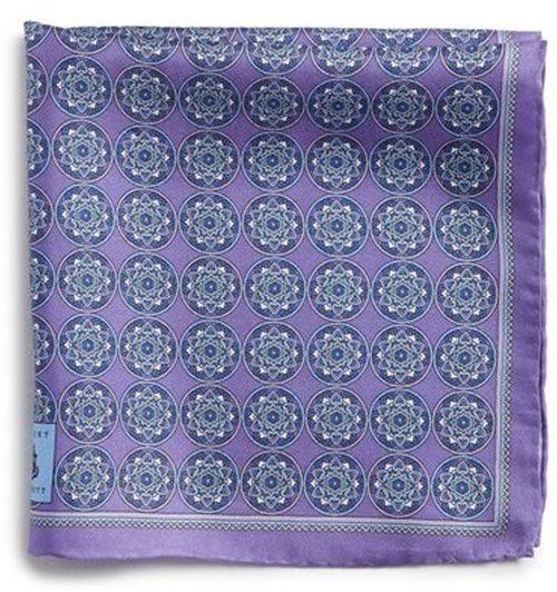 Medallion Silk Pocket Square by Robert Talbott in The Boss