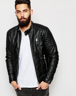 Faux Leather Jacket by G Star in The Blacklist