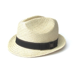 Natural Lightweight Straw Fedora Hat by Dasmarca Seville in Ride Along 2
